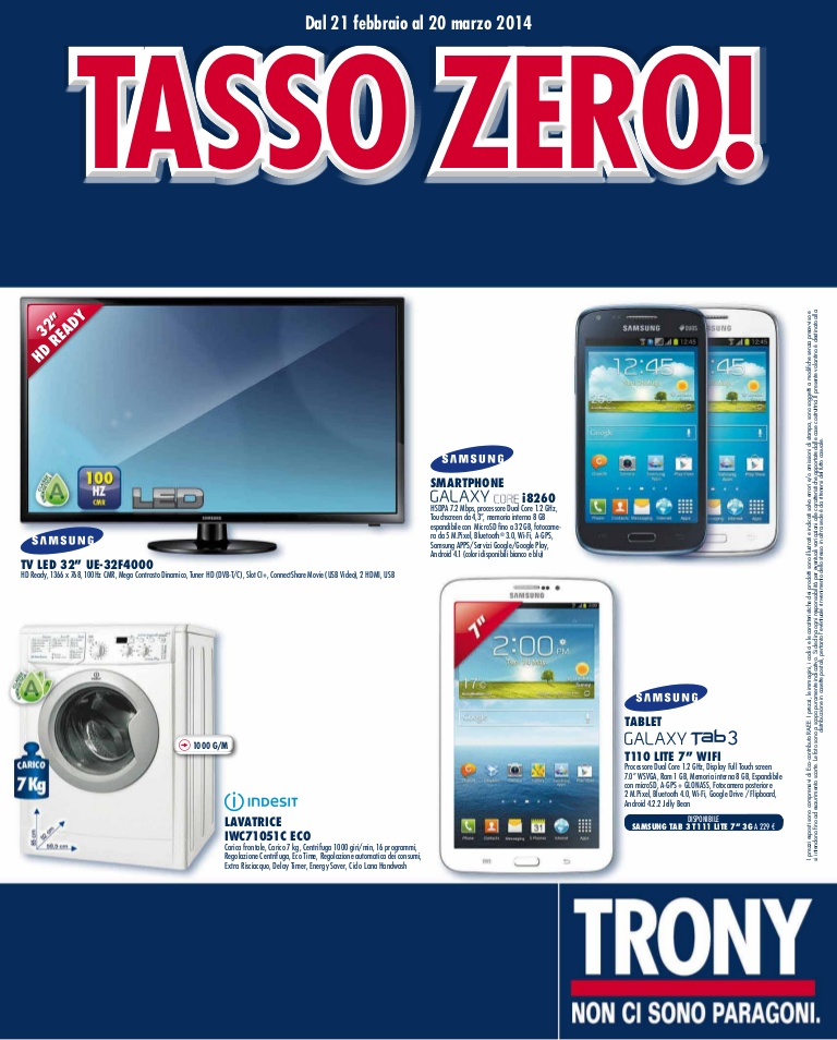 trony tasso zero tv led