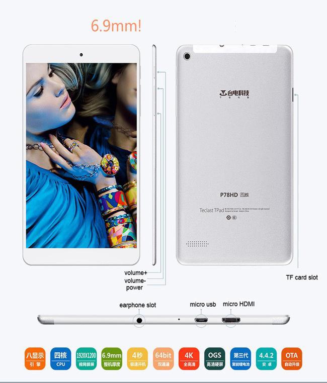 tablet eclast p78hd full hd economico